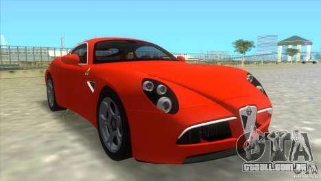 Alfa Romeo 8C Competizione para GTA Vice City deixou vista