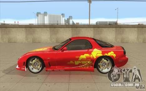 Mazda RX-7 - FnF2 para GTA San Andreas esquerda vista