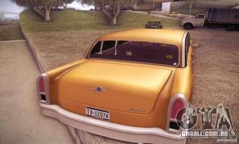 Cabbie HD para GTA San Andreas traseira esquerda vista