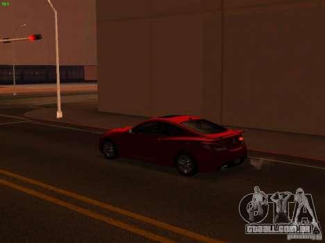 Hyundai Genesis Coupé 3.8 Track v 1.0 para GTA San Andreas vista superior