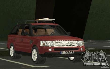Land Rover Range Rover 2007 para GTA San Andreas vista traseira