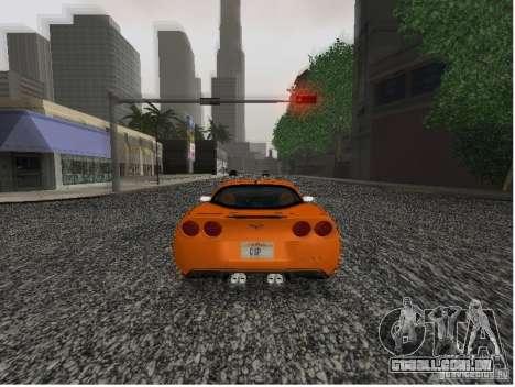 Chevrolet Corvette (C6) para GTA San Andreas traseira esquerda vista