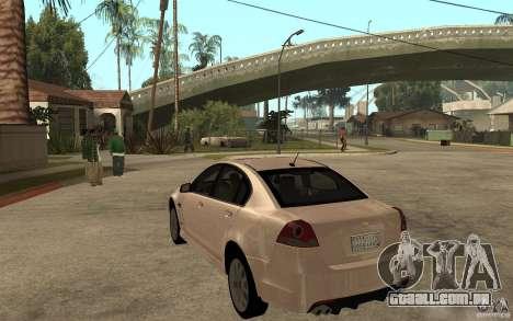 Chevrolet Lumina 2010 para GTA San Andreas traseira esquerda vista