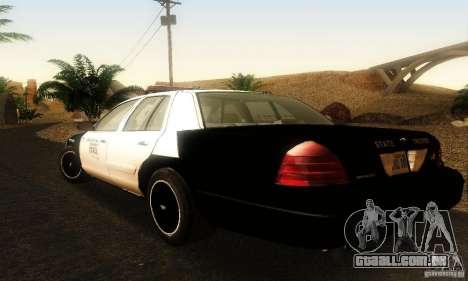 Ford Crown Victoria Oklahoma Police para GTA San Andreas esquerda vista