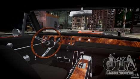 Dodge Charger RT 1969 esportes de v 1.1 tun para GTA 4 vista superior