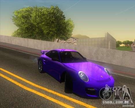 Porsche 911 GT2 (997) para GTA San Andreas vista superior