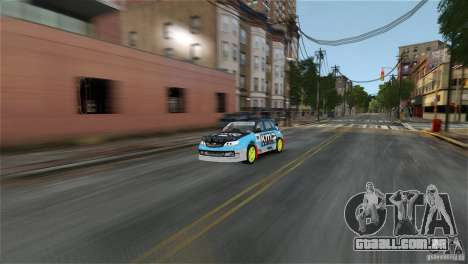 Subaru Impreza WRX STI Rallycross KMC Wheels para GTA 4 esquerda vista