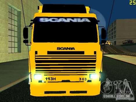 Scania 113H para GTA San Andreas vista interior