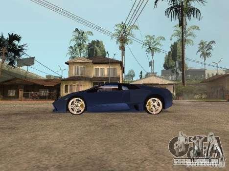 Lamborghini Murcielago LP640 para GTA San Andreas esquerda vista