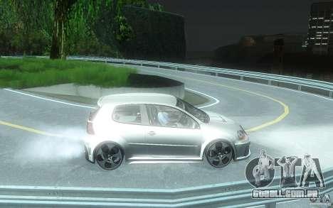 VolksWagen Golf GTI W12 TT Black Revel para GTA San Andreas vista traseira