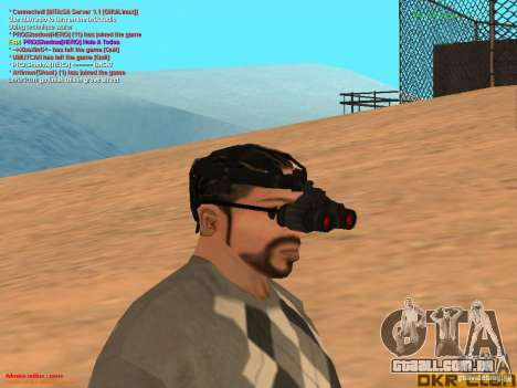 NV Goggles para GTA San Andreas segunda tela