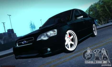 Subaru Legacy BIT edition 2004 para GTA San Andreas vista traseira