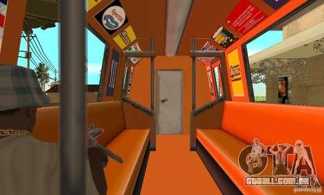 Liberty City Train CP para GTA San Andreas vista direita