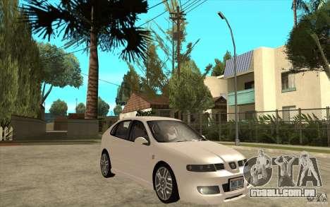 Seat Leon Cupra - Stock para GTA San Andreas vista traseira