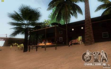 New Country Villa para GTA San Andreas por diante tela