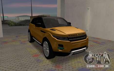 Land Rover Range Rover Evoque para GTA San Andreas vista direita