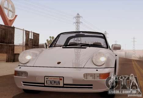 Porsche 911 Carrera 4 Targa (964) 1989 para GTA San Andreas traseira esquerda vista