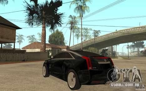 Cadillac CTS V Coupe 2011 para GTA San Andreas traseira esquerda vista