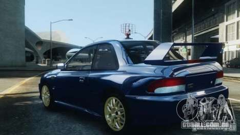 Subaru Impreza 22B 1998 para GTA 4 vista de volta