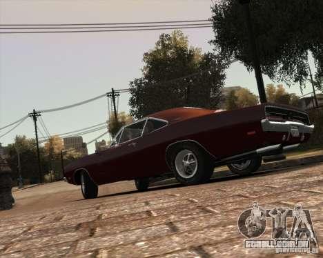 Dodge  Charger 1969 para GTA 4 vista inferior