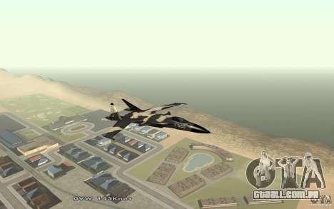 Águia dourada de Su-32 para GTA San Andreas esquerda vista