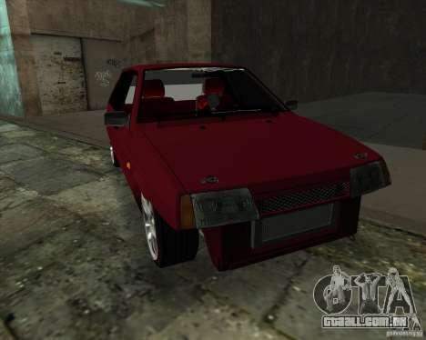 VAZ 2109 Drift para GTA San Andreas traseira esquerda vista