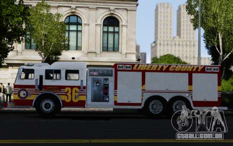 Pierce Heavy Rescue Pumper V1.4 para GTA 4 esquerda vista