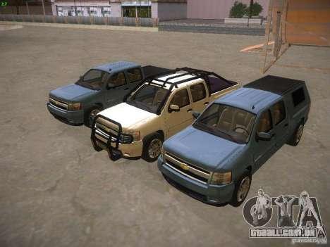 Chevrolet Silverado para GTA San Andreas vista inferior