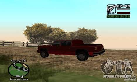 Rancher 4 Doors Pick-Up para GTA San Andreas esquerda vista