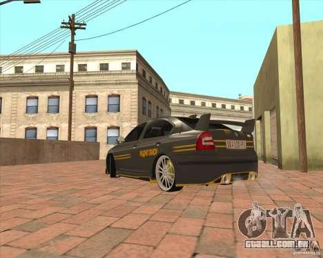 Skoda Octavia Taxi para GTA San Andreas traseira esquerda vista