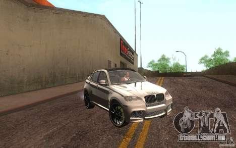 Bmw X6 M Lumma Tuning para GTA San Andreas esquerda vista