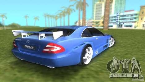 Mercedes-Benz CLK500 C209 para GTA Vice City vista traseira esquerda