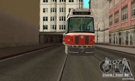 Canadian Light Rail para GTA San Andreas traseira esquerda vista