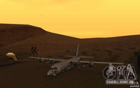 AC-130 Spectre para GTA San Andreas esquerda vista