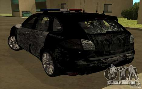 Porsche Cayenne Turbo 958 Seacrest Police para GTA San Andreas vista superior