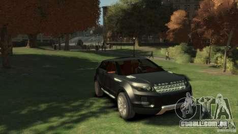 Land Rover Rang Rover LRX Concept para GTA 4 vista direita