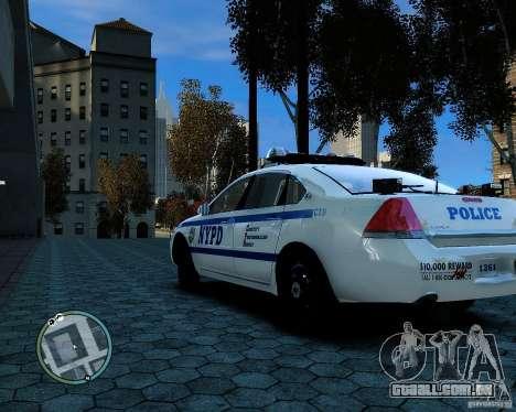 NYPD Chevrolet Impala 2006 [ELS] para GTA 4 vista direita
