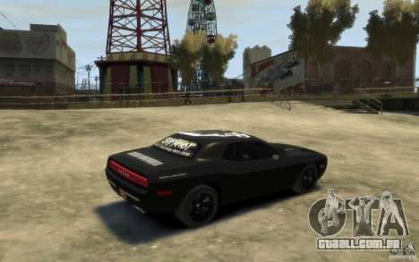 Dodge Challenger Concept Slipknot Edition para GTA 4 vista direita