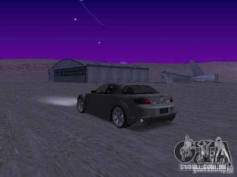 Mazda RX-8 Veilside para GTA San Andreas traseira esquerda vista