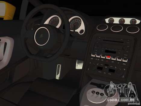 Lamborghini Gallardo para GTA Vice City vista traseira