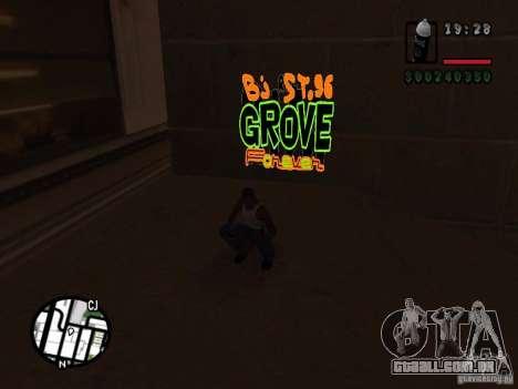 Novas gangues de pichação para GTA San Andreas sexta tela