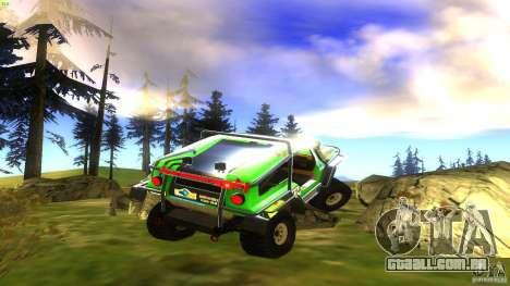 Raptor para GTA San Andreas traseira esquerda vista