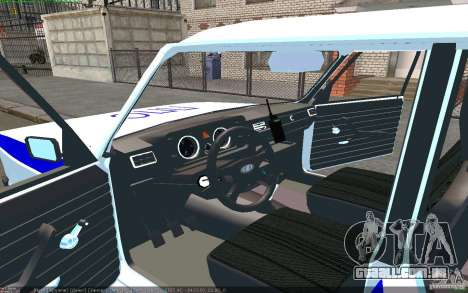 Vaz 2105 PPP Zhiguli para GTA San Andreas esquerda vista