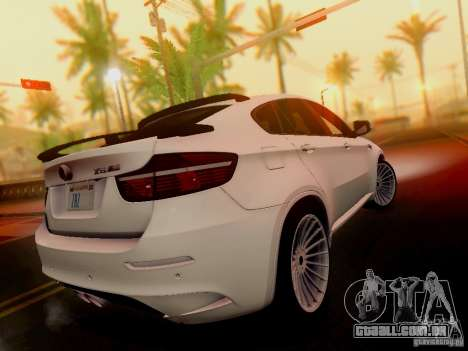 BMW X6 Hamann para GTA San Andreas esquerda vista