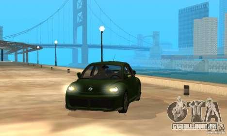 Volkswagen Bettle Tuning para GTA San Andreas vista interior