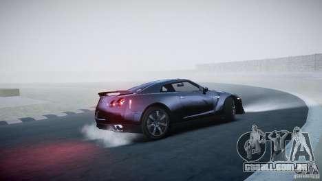 Nissan GT-R R35 V1.2 2010 para GTA 4 vista de volta