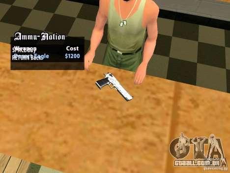TeK Weapon Pack para GTA San Andreas nono tela