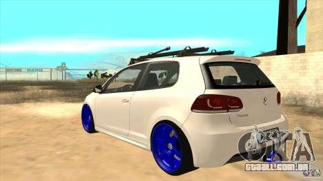 Volkswagen Golf MK6 Hybrid GTI JDM para GTA San Andreas traseira esquerda vista