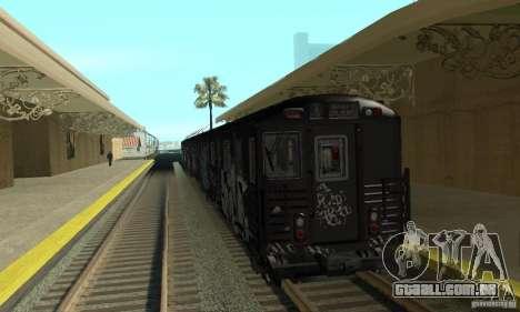 GTA IV Enterable Train para GTA San Andreas esquerda vista