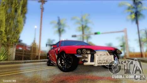Toyota Supra HELL para GTA San Andreas vista traseira